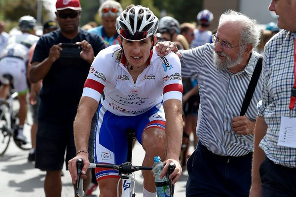 Arnaud Démare lors du Tour du Poitou-Charentes en août 2018.