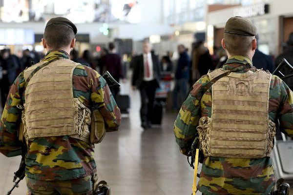 Photos prise en 2015 dans l'aéroport de Bruxelles