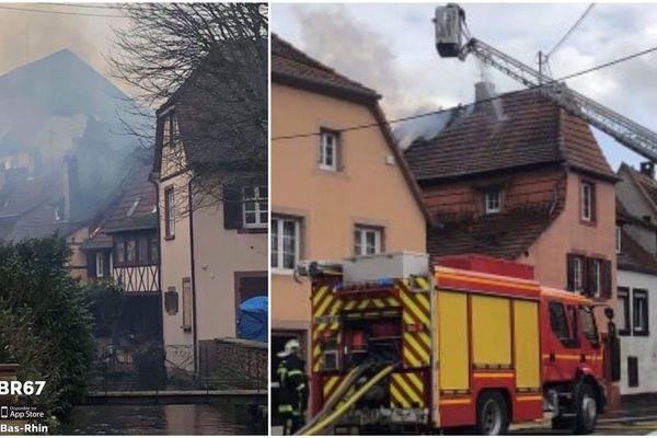 L'incendie a eu lieu dans le centre-ville de Wissembourg (Bas-Rhin).