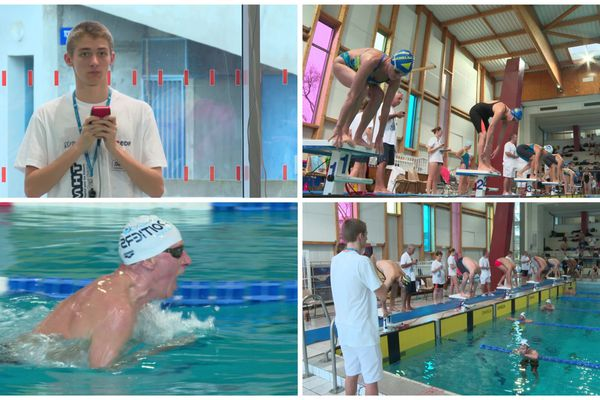 Tom Violeau, stater officiel du meeting masters de natation Henri Théolat de Poitiers.