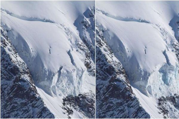 Quelque 15 000 m3 de glace se sont détachés du sérac Whymper, dans le massif du Mont-Blanc.