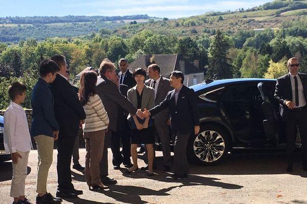 Le prince japonais Naruhito a été accueilli au domaine Fleurot, à Santenay, en Côte-d'Or