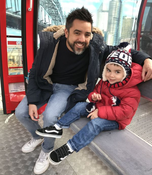 Dès l'ouverture, ce samedi matin, Victor, 3 ans, et son papa ont profité de la vue à 50 mètres de haut.