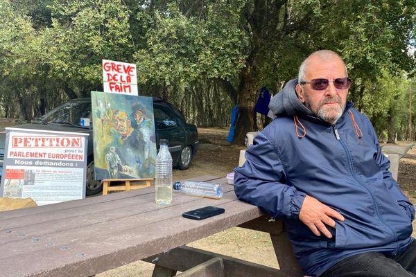 Michel Trouvain est en grève de la faim depuis presque un mois.