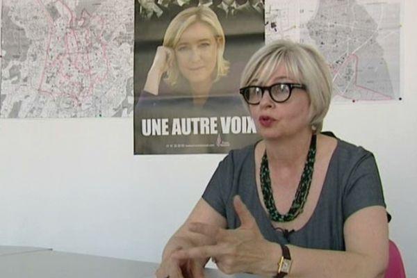 La Secrétaire départementale du FN de l'isère, Mireille d'Ornano.
