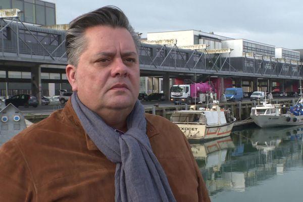 Olivier Leprêtre, patron de pêche et président du Comité régional des Hauts-de-France, le 6 janvier 2021 à Boulogne-sur-Mer.