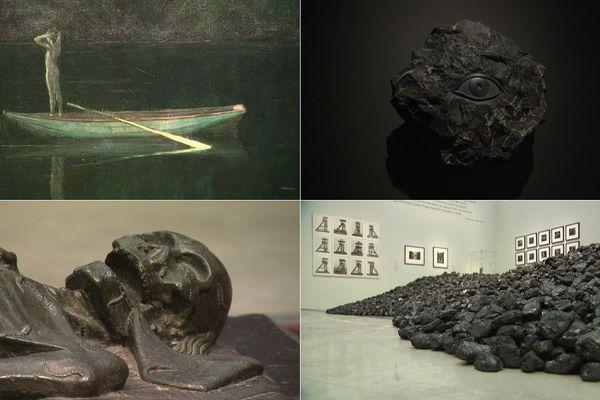 """Quelques unes des oeuvres présentés par """"Soleils Noirs"""", la nouvelle exposition du Louvre-Lens."""