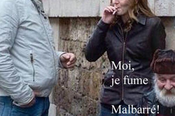 #NKM fume une clope Malbarré avec les SDF #Pub