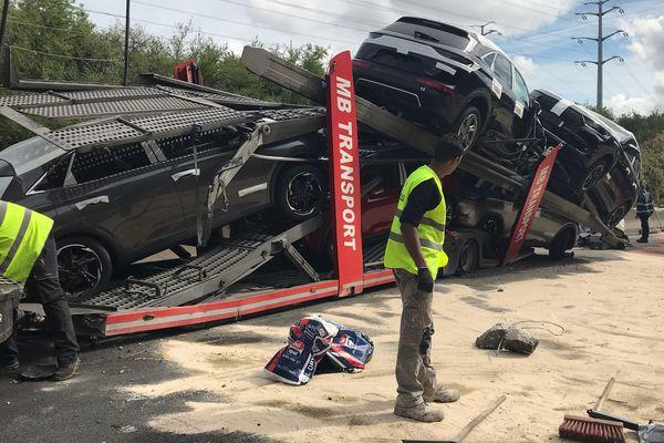 Accident sur l'A à Mions - 5 juin 2019