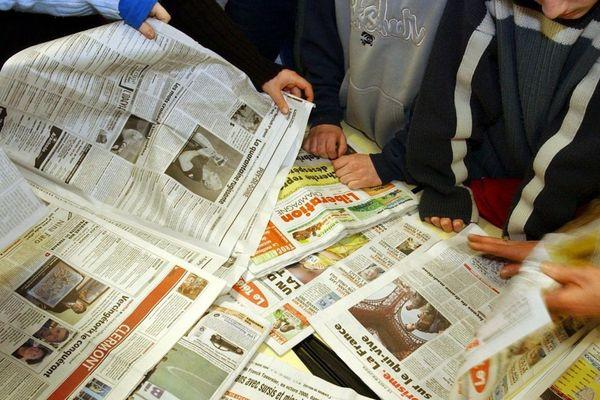 Les jeunes face à la presse: lors d'un atelier de découverte du journal La Montagne