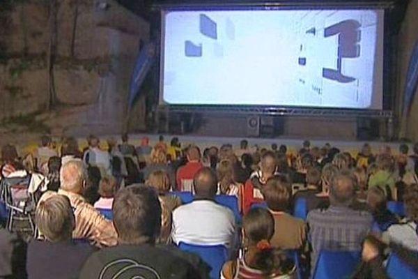 Saint-Brès (Hérault) - le festival de cinéma en plein air de l'Agglo de Montpellier - 1er août 2013.