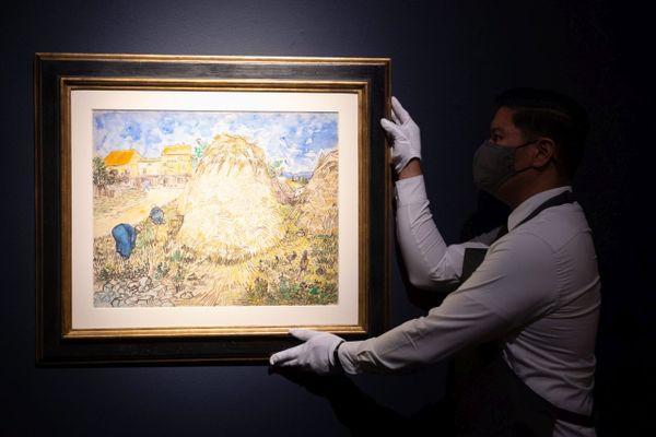 L'aquarelle Meules de blé de Van Gogh sera vendue aux enchères en novembre à New York.