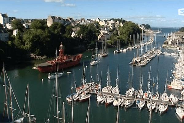 Les bateaux au Port Rhu à Douarnenez (29)