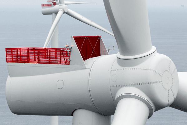 La turbine qui équipera le parc éolien en mer de Saint Brieuc est une turbine de 8 MW développée par Siemens Gamesa.