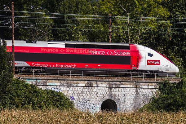 Une rame TGV Lyria en septembre 2019.