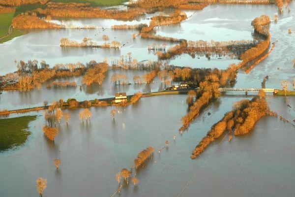Les environs de Redon sous les eaux le 26 décembre