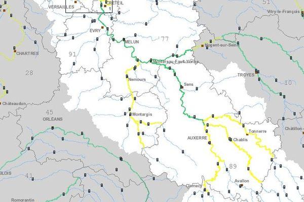 Le tronçon Loing-Aval placé en vigilance jaune crues ce 5 mars.