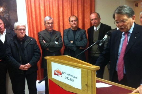 Jean-François Mattei, président de la Croix-Rouge, à Modane