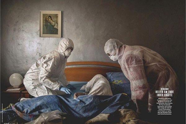 Des photos d'un esthétisme humain poignant répondant aux tableaux pieux  accrochés au-dessus des lits italiens/ Stern magazine