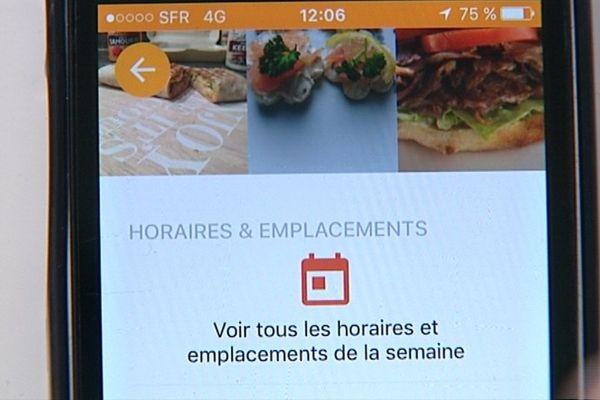 """L'application """"Moovin'Food"""", qui a été conçue en Côte-d'Or, permet de géolocaliser sur son smartphone les camions pizza et autres foodtrucks"""