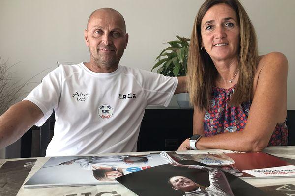 Depuis leur domicile à Rillieux-la-Pape, Philippe et Sandrine Brunet ont suivi la compétition de leur fille.