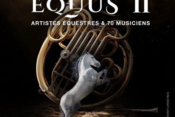 Affiche spectacle équestre Equus II