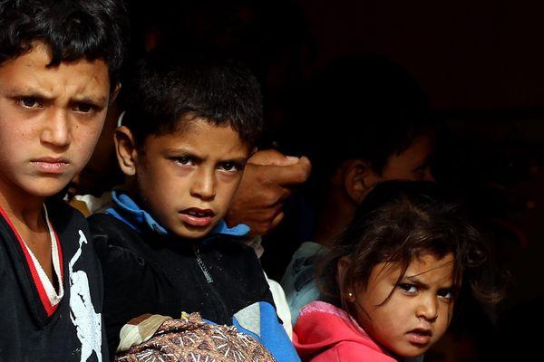 Jeunes réfugiés Syriens