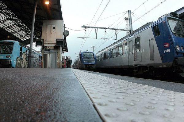 Circulation très perturbée ce mardi 21 mai 2019, en gare de Toulouse Matabiau.