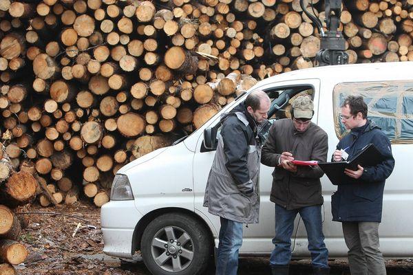 Contrôle des inspecteurs du travail sur un chantier (photo d'illustration)