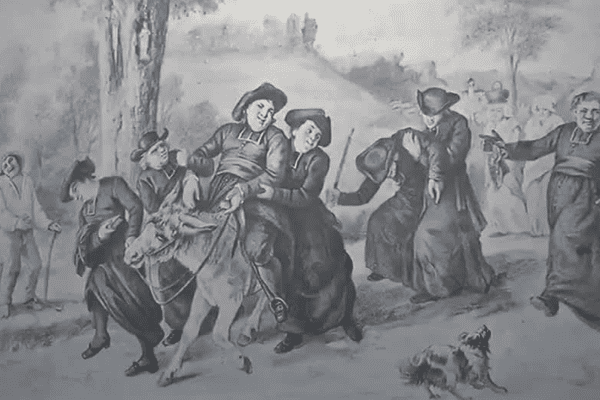Le Retour de la conférence de Gustave Courbet, photographiée par le peintre lui-même !