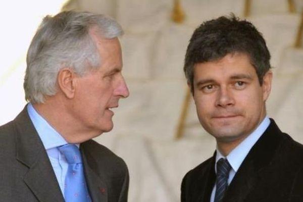 Michel Barnier et Laurent Wauquiez en 2008