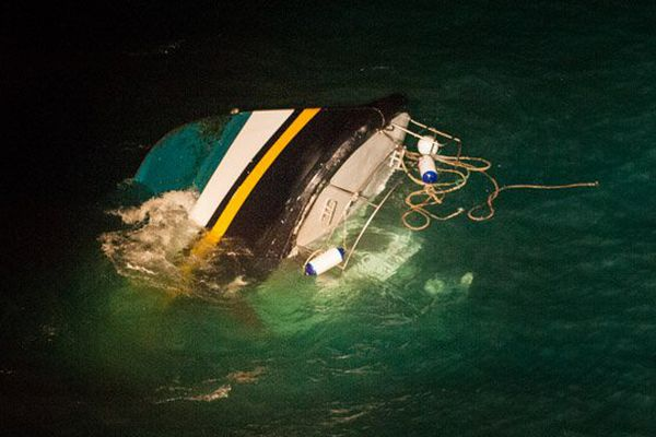 Le Ralph Maelle a sombré cette nuit à 12 milles nautiques des côtes