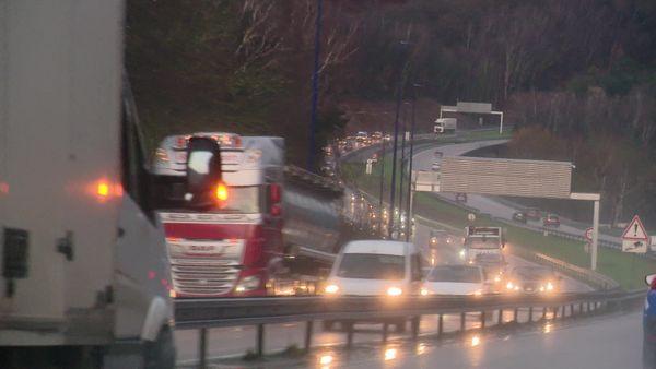 L'A150 à la sortie de Rouen en direction de Barentin- Archives