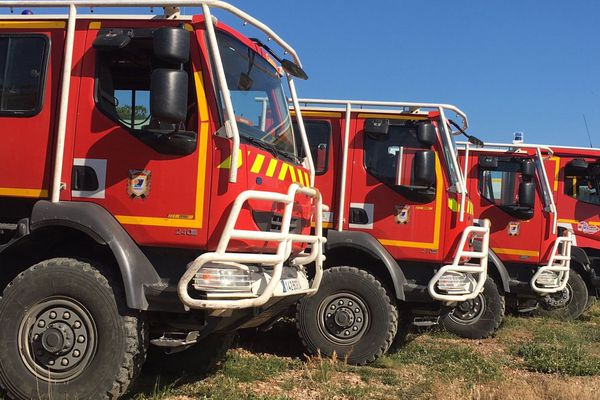 Camions de pompiers du Service Départemental d'Incendie et de Secours de l'Hérault