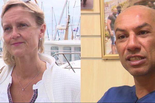 Stéphanie de Bazelaire et Madjid Nassah, adjoints au maire du Havre