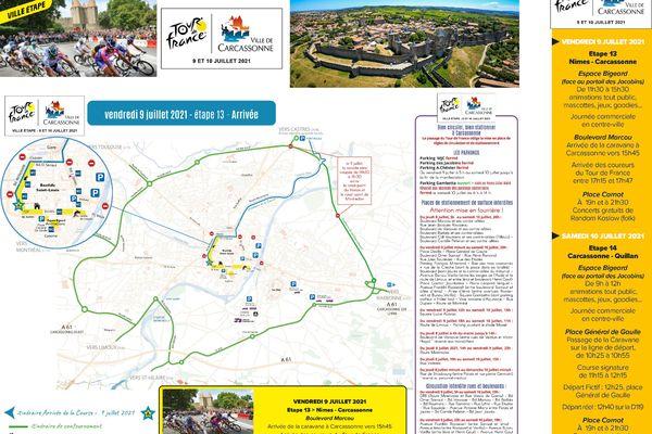 La circulation et le stationnement sont modifiés lors du Tour de France à Carcassonne