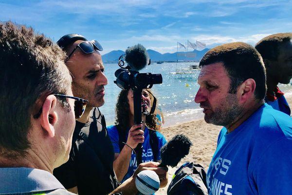 """Yann Augras à Cannes lors de la présentation du documentaire """"On va tout péter"""" en mai 2019"""