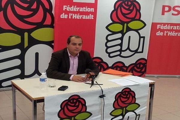 Montpellier - Hussein Bourgi, Secrétaire fédéral du PS de l'Hérault - 12 septembre 2013.
