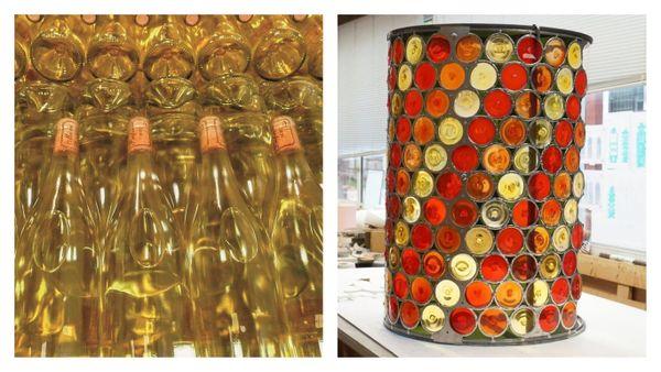 L'or du Chenin, mais pour le lanternon de sa Tour, Othoniel n'a pas oublié les vins rouges et rosés du Touraine-Amboise