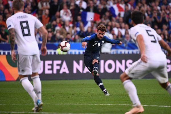 La France a battu l'Allemagne lors d'une rencontre de la Ligue des Nations grâce à un doublé du Mâconnais Antoine Griezmann mardi 16 octobre 2018.