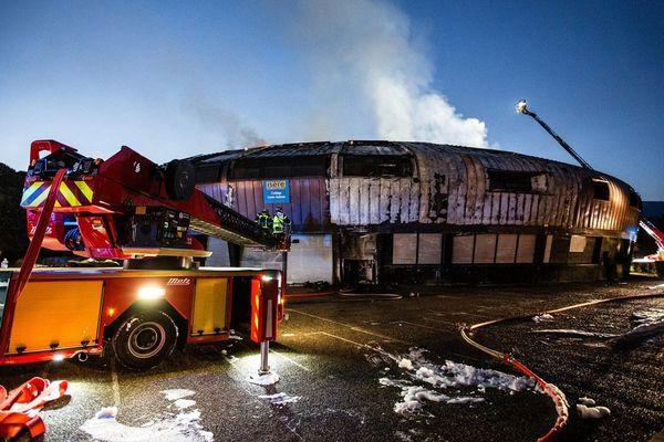 Incendie du collège Lucie Aubrac de la Villeneuve à Grenoble le 11 juin 2017