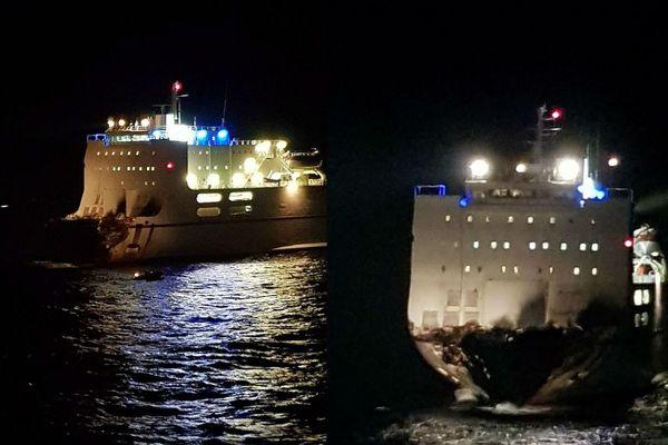 Le navire Ulysse a pu être détaché du porte-containers Virginia dans la nuit de jeudi à vendredi.