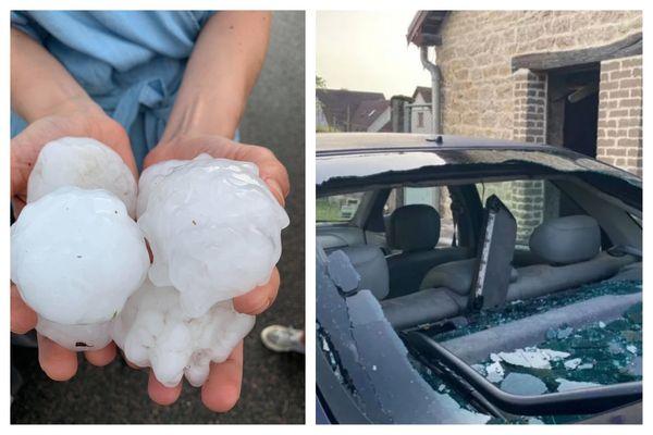 Un violent orage de grêle s'est déversé samedi 18 juin en fin de journée sur le Doubs.