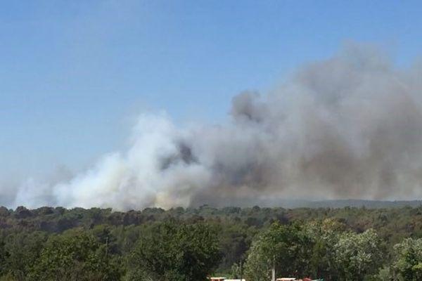 Le feu a repris cette après- midi