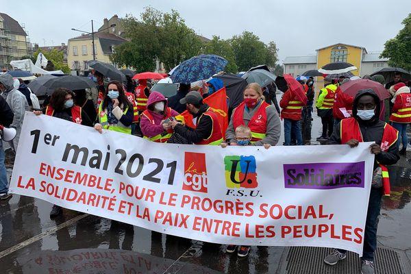 Mulhouse, manifestation du 1er mai 2021