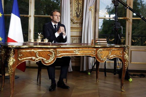 Emmanuel Macron, au palais de l'Elysée, en avril 2019