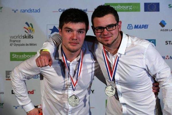 Florian Rahon et Maxime Tissier du CFA de Quetigny.