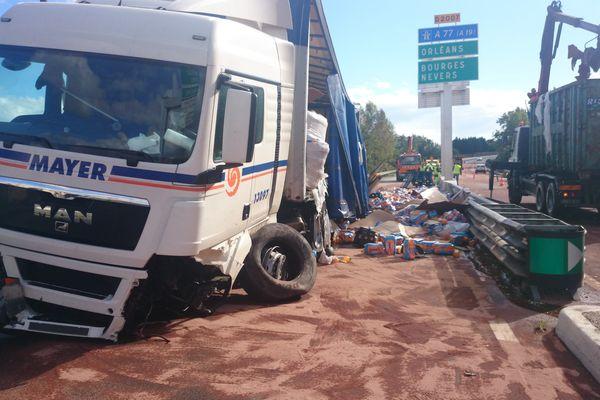 Accident de poids-lourd à Amilly (Loiret)