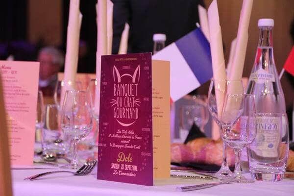 Banquet sur la région Alsace au week-end gourmand du Chat Perché