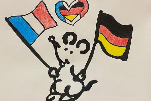 Un dessin de Plantu pour mettre à l'honneur la multiplication des échanges entre la France et l'Allemagne en Champagne-Ardenne.